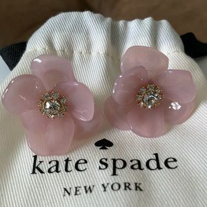 Kate Spade Pink Flower Earrings